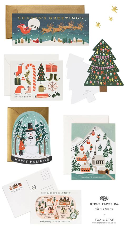 christmas cards  gift tags  rifle paper  fox  star