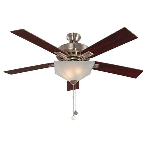 design house ceiling fan light kit design house hann 52 in indoor satin nickel ceiling fan