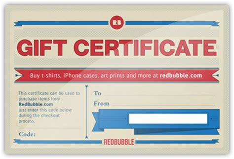 buy gift certificate gift certificates redbubble