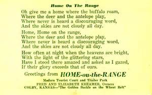 home on the range lyrics voices west cowboy poetry and song homepage