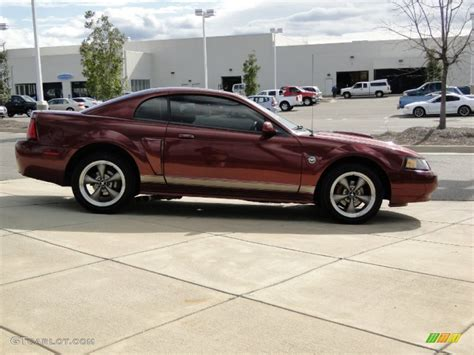 40th anniversary crimson metallic 2004 ford mustang gt