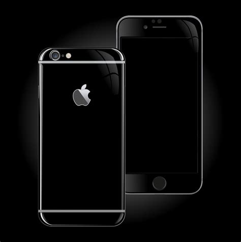iphone jet black iphone 6 plus jet black high gloss skin wrap decal easyskinz