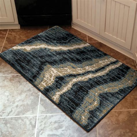 homes  gardens midnight marble area rug