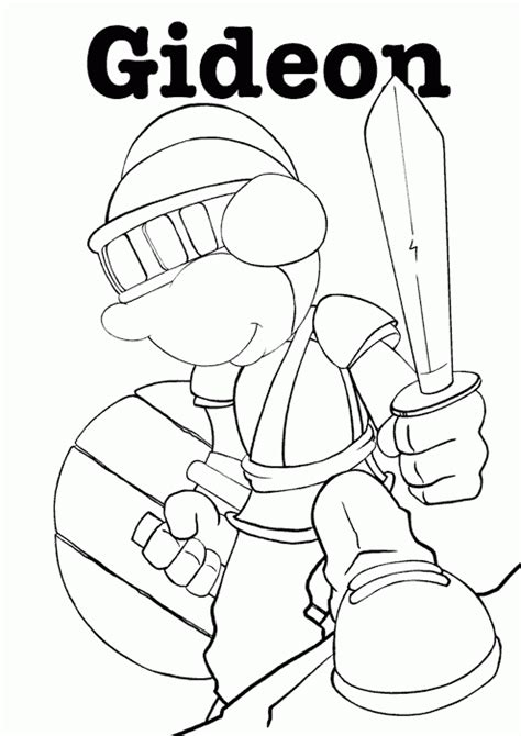 gideon coloring page coloring com