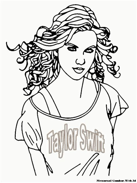 free coloring pages of taylor swift red