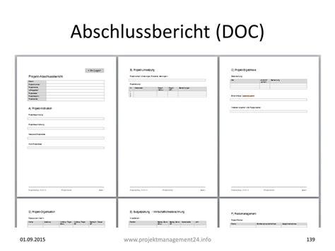 Word Vorlage Projekt projekt abschlussbericht in word mit vorlage zum