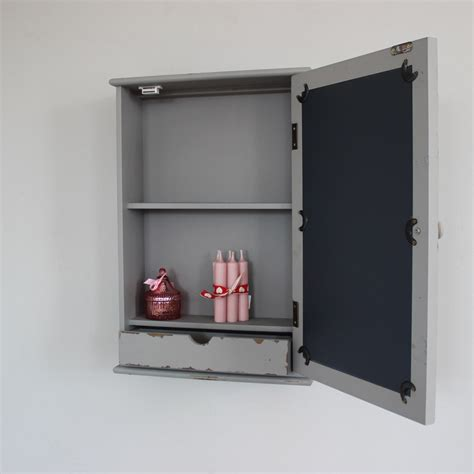 Mirrored Bathroom Wall Cabinet Grey Mirrored Wall Cabinet Distressed Bathroom Shabby Chic Home Drawer Ebay