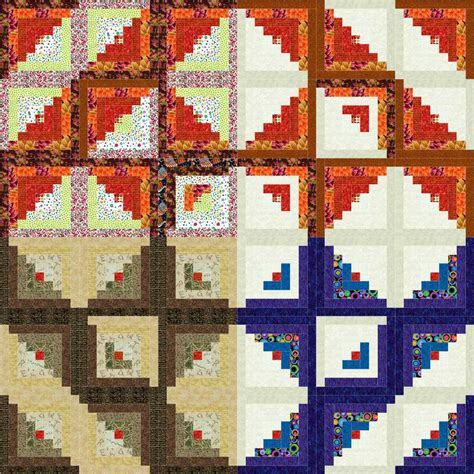 Log Cabin Quilt by Choosing Fabric For Log Cabin Quilts Quilter