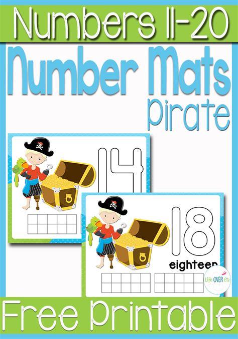 printable pirate playdough mats free pirate printable play dough number mats s 11 20