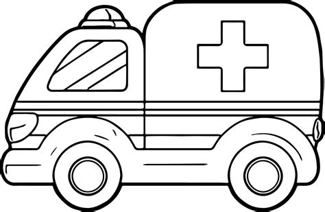 A Ambulance Coloring Pages Wecoloringpage Ambulance Colouring Pages