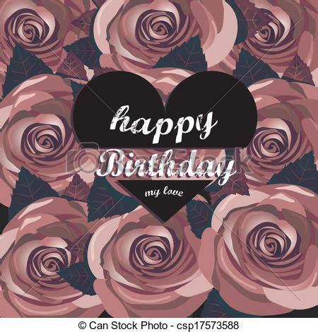 imagenes hipster de feliz cumpleaños vector de cumplea 241 os flores vector tarjeta rojo feliz
