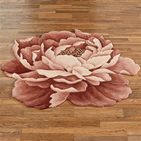 Nancy Bloom Peony Flower Shaped Rugs Flower Rug