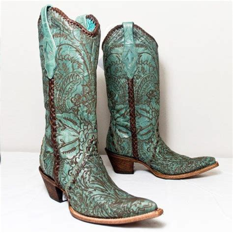 cowboy boots cowboys and teal on
