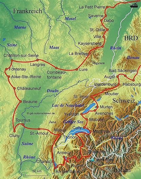 Motorradtouren Frankreich Karten motorradreise burgund gef 252 hrte motorradtouren