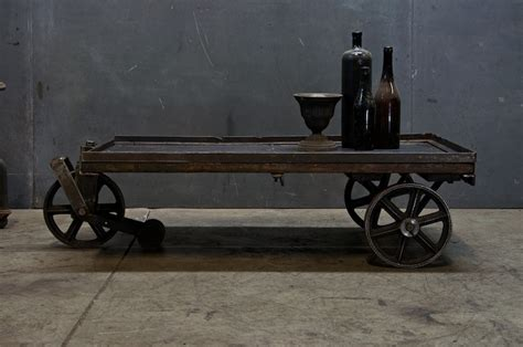 vintage industrial cart coffee table factory 20