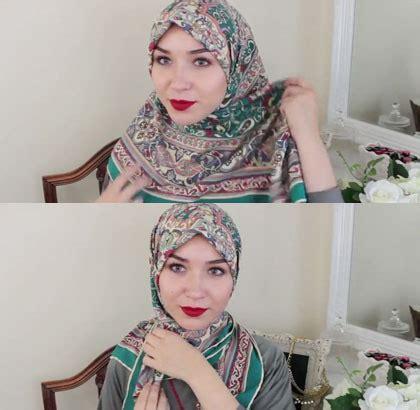 tutorial jilbab nabiilabee busana muslim trendy tutorial hijab segiempat untuk
