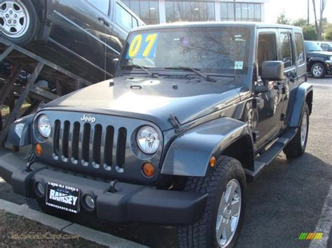 jeep blue grey 2007 jeep wrangler unlimited sahara 4x4 in steel blue
