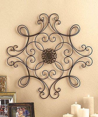 metal wall medallion wrought iron home decor accent