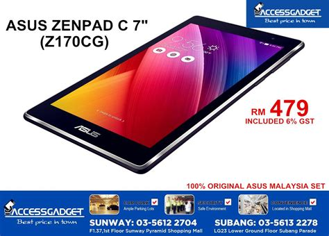 Tablet Asus In Malaysia asus zenpad c 7 z170cg 7 quot original a end 1 13 2016 2 05 pm