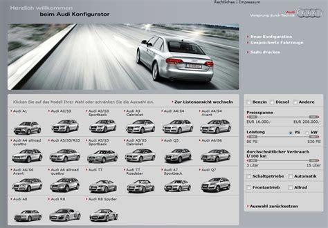 Audi Konfig by Konfigurering Av Nybiler P 229 Nett Brukertest