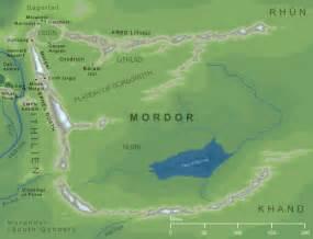 map of mordor the encyclopedia of arda mordor