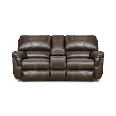 Simmons Reclining Loveseat view simmons 174 bucaneer cocoa reclining console loveseat