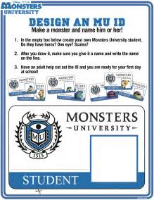 make a student id card new monsters activity sheets available to