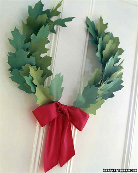 A Paper Wreath - paper wreath martha stewart