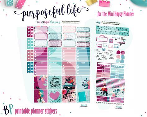 free printable planner kits purpose mini happy planner weekly kit printable