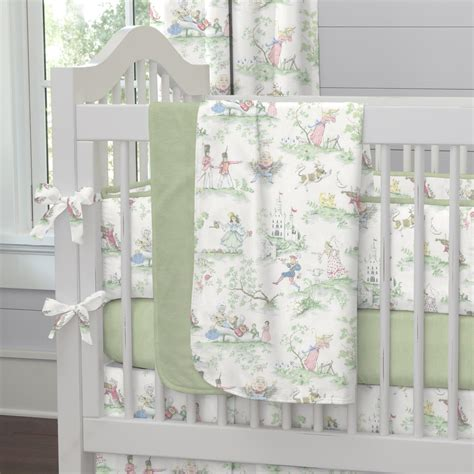 Baby Crib Blanket Nursery Rhyme Toile Crib Blanket Carousel Designs