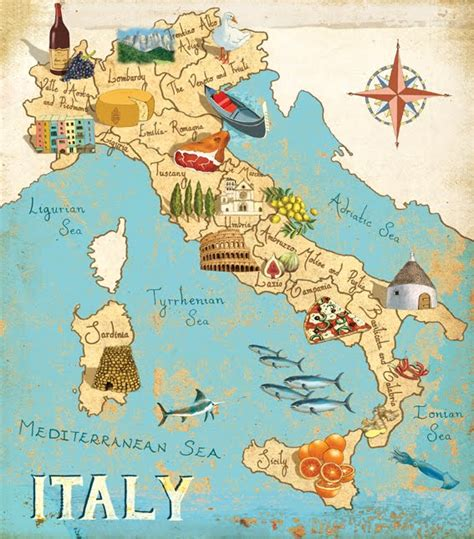 map of italy gumboillustration map of italy