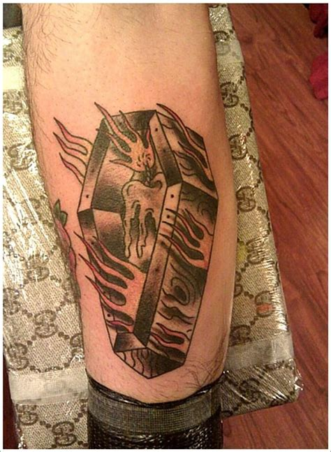 unusual coffin tattoo designs 28