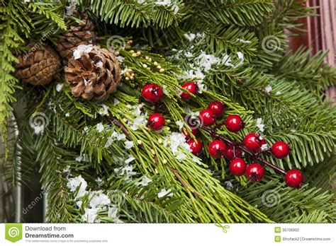 green holiday christmas decoration stock photo image