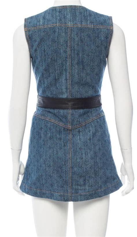 Lv Dress Denim 13 louis vuitton blue black medium wash blue lv print