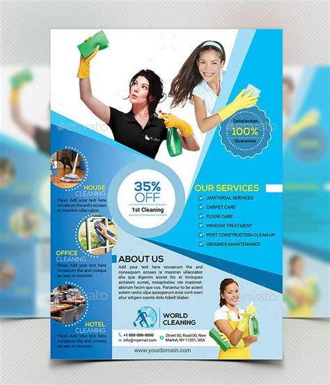 free house cleaning flyer templates house cleaning flyers house cleaning flyer templates and