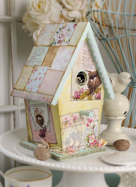 french vintage birdhouse therm o web