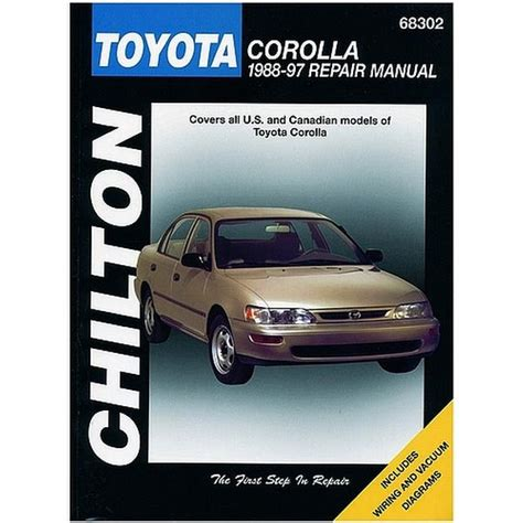 what is the best auto repair manual 1988 porsche 911 lane departure warning chilton toyota corolla 1988 1997 repair manual northern auto parts