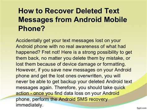 how to recover deleted photos on android phone how to recover deleted text messages from android mobile phone