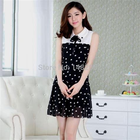 Dress Black From Korea Korean Black And White Casual Dress Naf Dresses