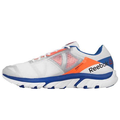reebok reebok zstrike run white blue orange mens running