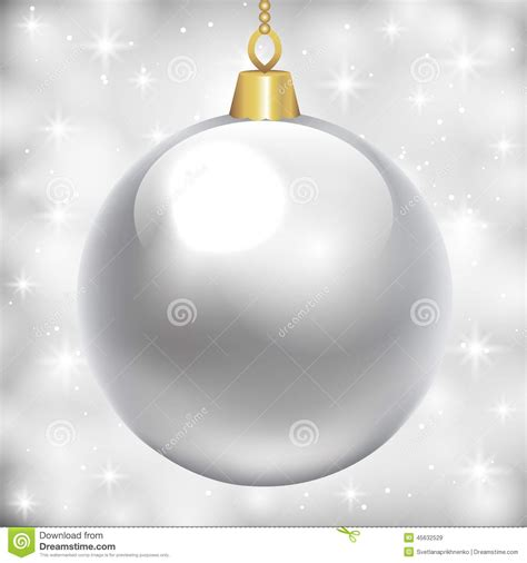 silver baubles stock vector image 45632529