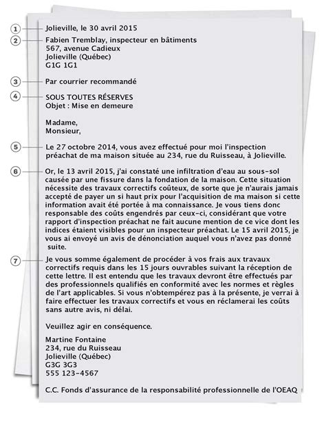 Exemple De Lettre De Mise En Demeure En Anglais Modele Lettre Mise En Demeure Document