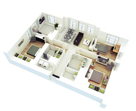 house with 4 bedrooms free 3 bedrooms house design and lay out