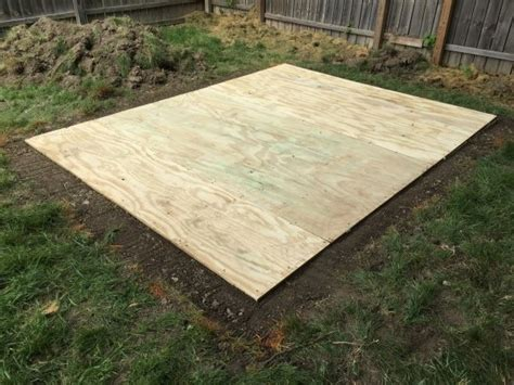build  shed floor  pressure treated wood