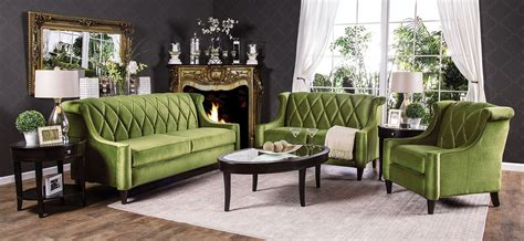 Green Living Room Set Limerick Green Living Room Set Sm2881 Sf Furniture Of America