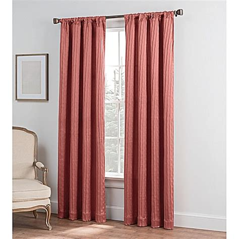 solid coral curtains buy collette solid 95 inch rod pocket window curtain panel