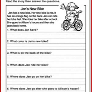 Reading Comprehension Worksheets Grade 2 by 1st Grade Reading Comprehension Worksheets Free