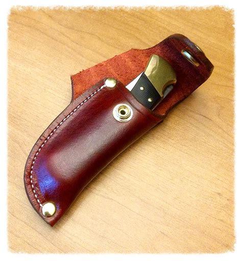buck 110 horizontal sheath leather