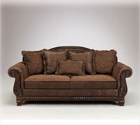 sofa with leather and fabric 301 moved permanently