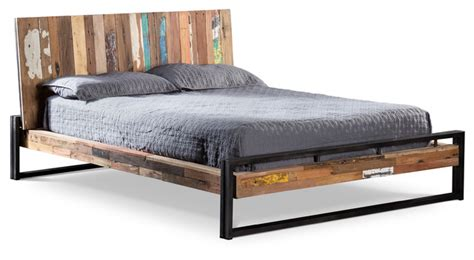 beach style beds bed made of recycled boat wood beach style platform